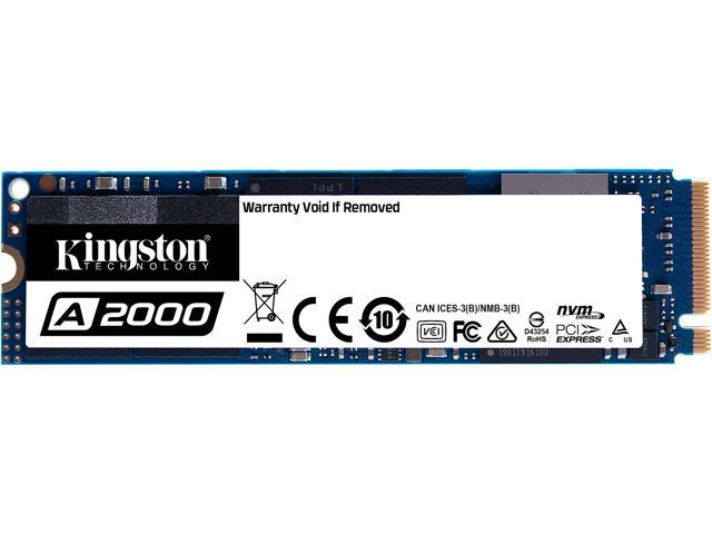 Kingston A2000 M.2 2280 250GB NVMe PCIe Gen 3.0 x4 3D NAND Internal Solid State Drive (SSD) SA2000M8/250G