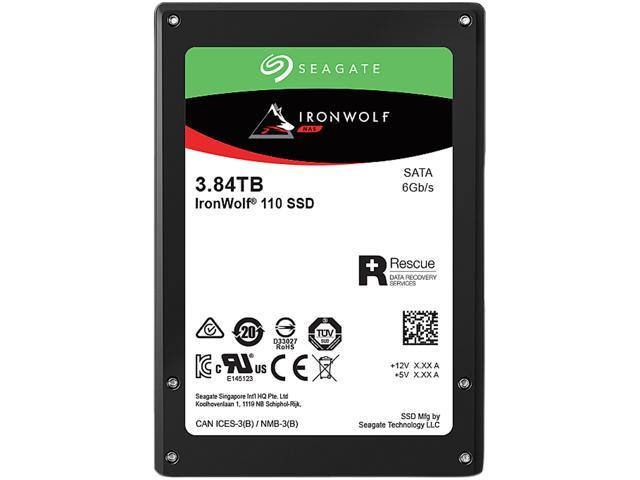 "Seagate IronWolf 110 2.5"" 3.84TB SATA III 3D TLC Internal Solid State Drive (SSD) ZA3840NM10011"