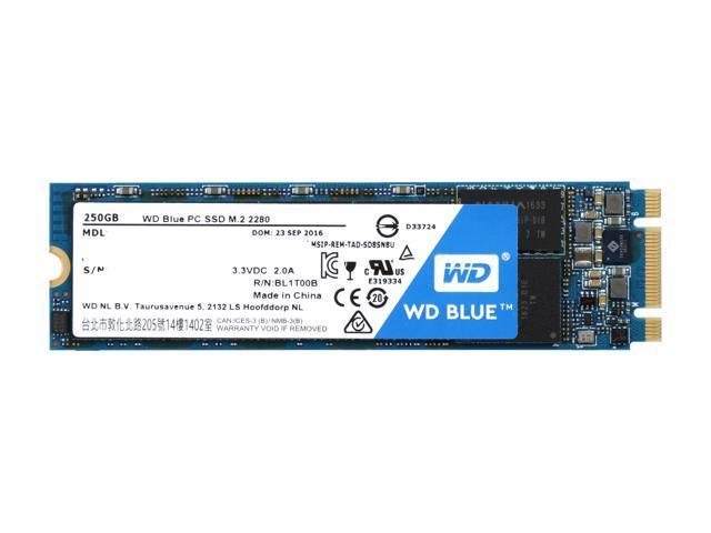 Western Digital SSD WDS250G1B0B 250GB M.2 2280 SATA III 6Gb//s WD Blue