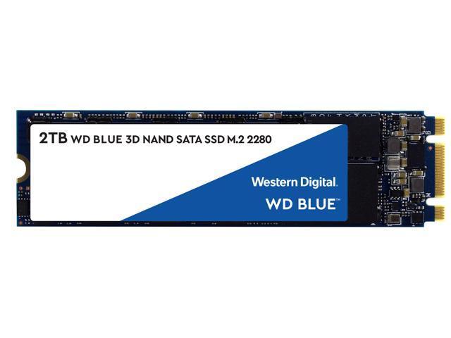 WD Blue 3D NAND 2TB Internal SSD - SATA III 6Gb/s M.2 2280 Solid State Drive - WDS200T2B0B