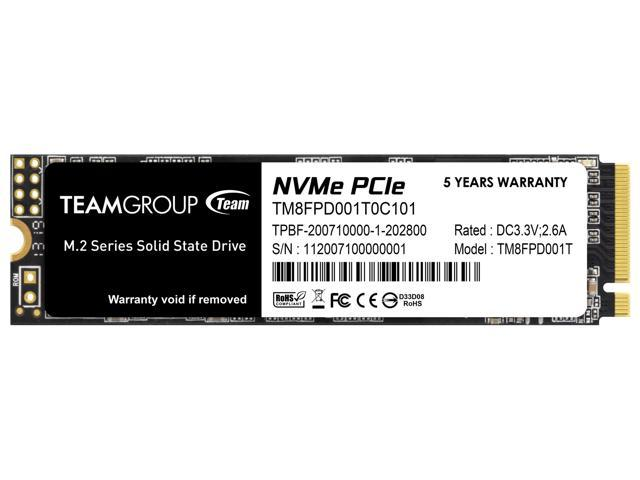 Team Group MP33 PRO M.2 2280 1TB PCIe 3.0 x4 with NVMe 1.3 3D NAND Internal Solid State Drive (SSD) TM8FPD001T0C101