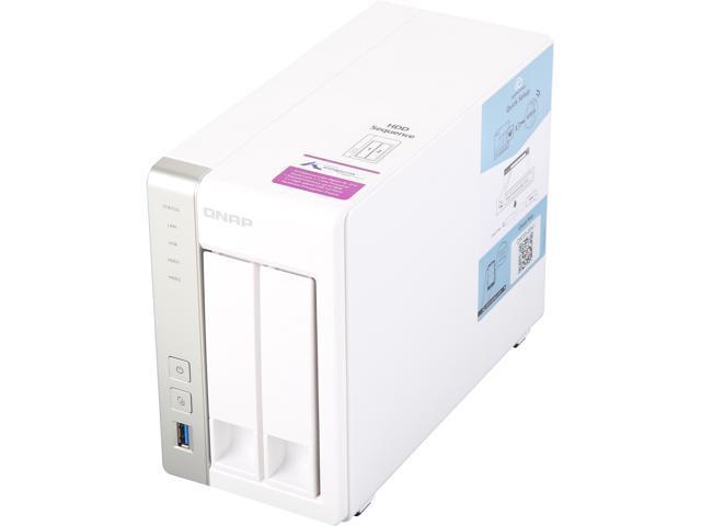 QNAP TS-231P2-1G-US 2-Bay Personal Cloud NAS with DLNA, ARM Cortex A15  1 7GHz Quad Core, 1GB RAM - Newegg com
