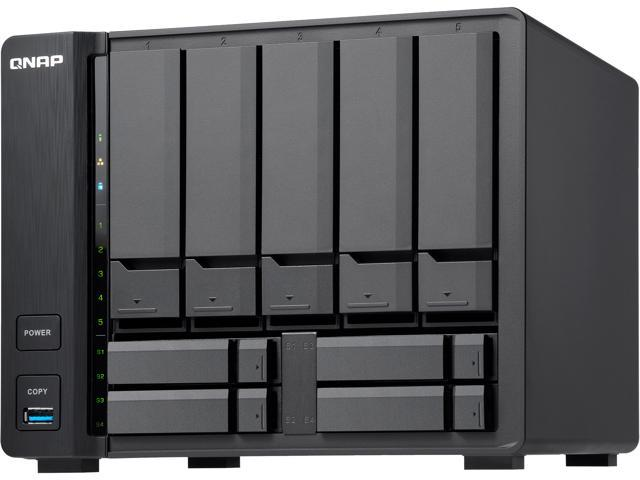 QNAP TS-932X-2G-US 5 (+4) Bay 64-bit NAS with Hardware Encryption, Quad  Core 1 7 GHz, 2GB RAM, 2 x 10 GbE (SFP+), 2 x 1 GbE - Newegg com