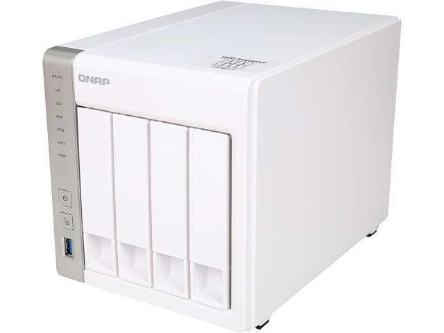 QNAP TS-431 4-Bay Personal Cloud NAS Diskless System with DLNA, PLEX  Support - Newegg com