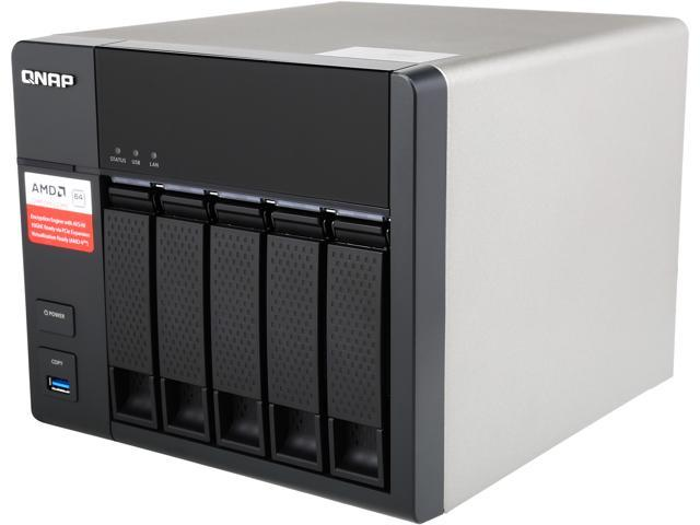 QNAP TS-563-2G-US 5-Bay AMD 64bit x86-based NAS, Quad Core 2 0GHz, 2GB RAM,  2 x 1GbE, 10G-ready - Newegg com