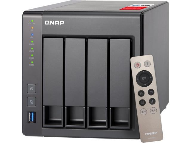 QNAP TS-451+-8G-US 4-Bay Personal Cloud NAS with HDMI output, DLNA, AirPlay  and PLEX Support Black case, Remote Control Included - Newegg com