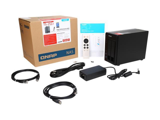 QNAP 2 Bay TS-251+ Next Gen Personal Cloud NAS, Intel 2 0GHz Quad-Core CPU  with Media Transcoding - Newegg com