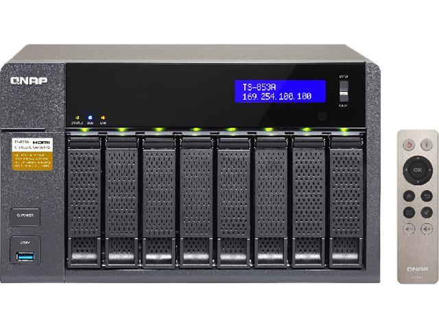 QNAP TS-853A (8GB RAM version) 8-Bay Professional-Grade Network Attached  Storage, Supports 4K Playback (TS-853A-8G-US) - Newegg com