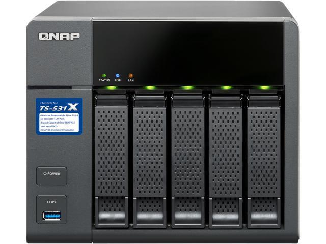 Qnap TS-531P-2G-US 5 Bay SATA 6 Gb/s NAS, Quad-core 1 4 GHz Cortex-A15 CPU,  2 GB RAM, 4 Gigabit Ethernet - Newegg ca