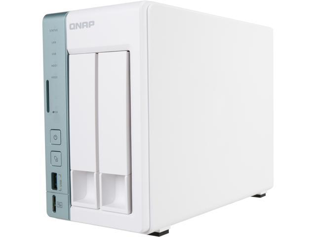 QNAP 2-bay TS-251A personal cloud NAS / DAS with USB direct access, HDMI local display