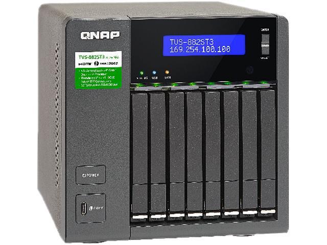 QNAP TVS-882ST3-i7-16G-US 8-bay 2 5-inch Thunderbolt 3 NAS with 10 GbE  connectivity - Newegg com