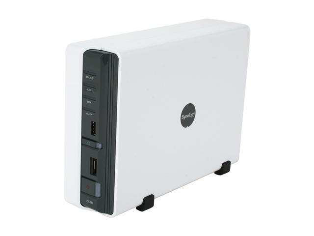 Synology DS111 Diskless System DiskStation 1-Bay NAS Server for Workgroups  and Offices
