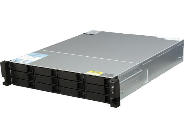 QNAP TS-1263XU-RP-4G-US 2U 12-Bay AMD 64bit x86-based NAS
