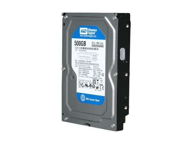 Western Digital Blue WD5000AAKS 500GB 7200 RPM 16MB Cache SATA 3.0Gb/s 3.5""