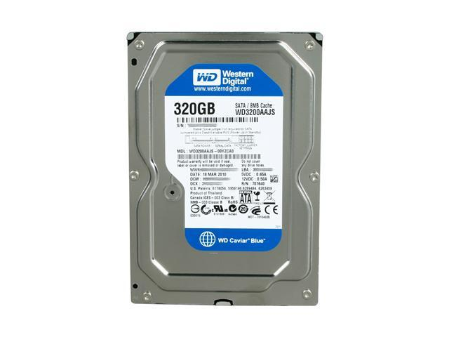 Western Digital Caviar Blue WD3200AAJS 320GB 7200 RPM 8MB Cache SATA 3.0Gb/s 3.5