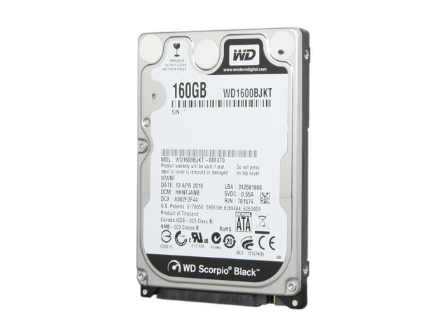 NEW 160GB SATA 2.5 inch 7200RPM Hard Drive WD WD1600BEKT Free USA Shipping