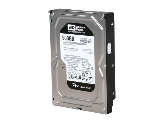 "Western Digital Black WD5002AALX 500GB 7200 RPM 32MB Cache SATA 6.0Gb/s 3.5"" Internal Hard Drive Bare Drive"
