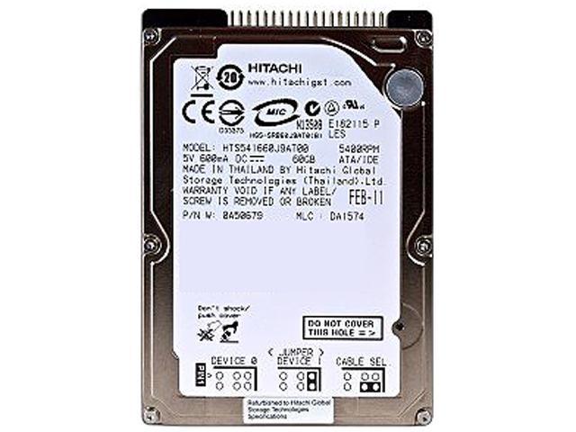 New Hitachi HTS721060G9AT00 60GB 2.5 PATA IDE HDD Laptop 5K160 Hard Drive
