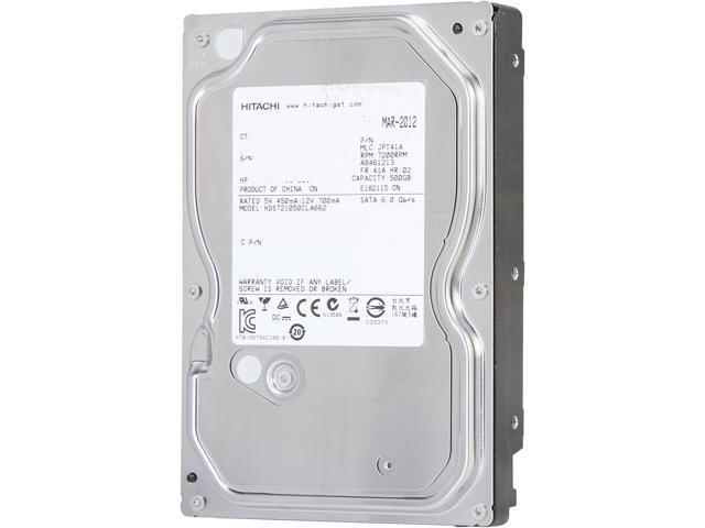 Hitach Deskstar 7K1000.C HDS721050CLA662 500GB 7200 RPM 16MB Cache SATA 6.0Gb//s 3.5 Internal Hard Drive