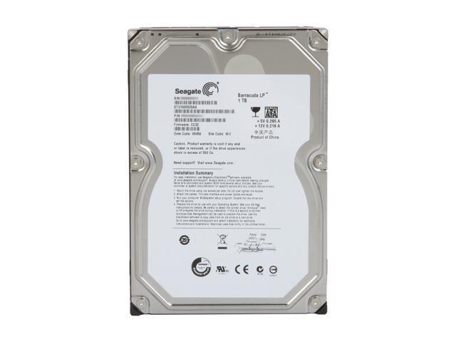 Seagate ST31000520AS 1TB 32MB 5900RPM Low-Power SATA II Hard Drive