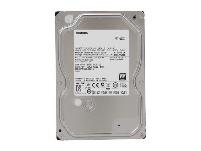 TOSHIBA DT01ACA100 1TB 7200 RPM 32MB Cache SATA 6 0Gb/s 3 5