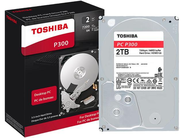 Toshiba P300 2TB Desktop PC Internal Hard Drive 7200 RPM SATA 6Gb/s 64MB  Cache 3 5 inch - HDWD120XZSTA (RETAIL PACKAGE) - Newegg com
