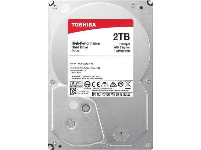 Toshiba P300 2TB Desktop PC Internal Hard Drive 7200 RPM SATA 6Gb/s 64 MB  Cache 3 5 inch - HDWD120UZSVA (BULK) - Newegg com