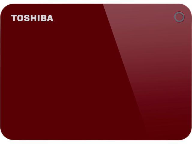 Toshiba Canvio Advance 1TB Portable External Hard Drive USB 3 0 Red -  HDTC910XR3AA - Newegg com