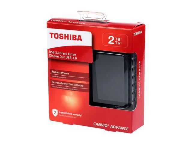 Toshiba Canvio Advance 2TB Portable External Hard Drive USB 3.0 Black - HDTC920XK3AA - Newegg.com