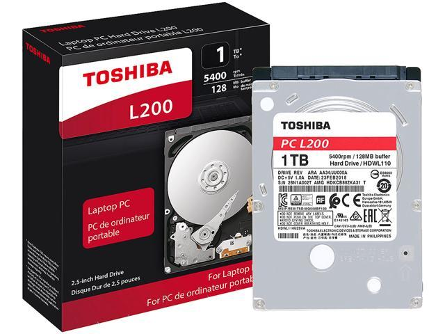 Toshiba L200 1TB Laptop PC Internal Hard Drive 5400 RPM SATA 6Gb/s 128 MB Cache 2.5 inch 7.0mm Height - HDWL110XZSTA (RETAIL PACKAGE)
