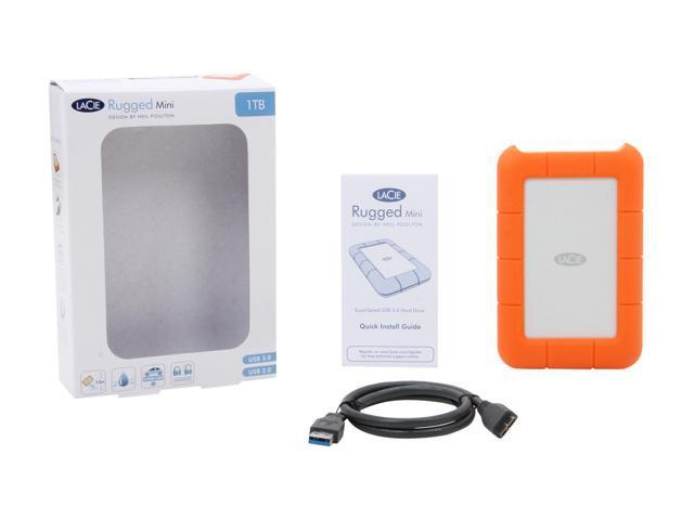 Lacie 1tb Rugged Mini External Hard Drive Usb 3 0 Model Lac301558 Orange