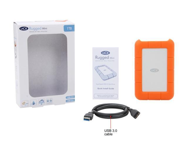 Lacie 1tb Rugged Mini External Hard Drive Usb 3 0 Model Lac301558 Orange Newegg Com