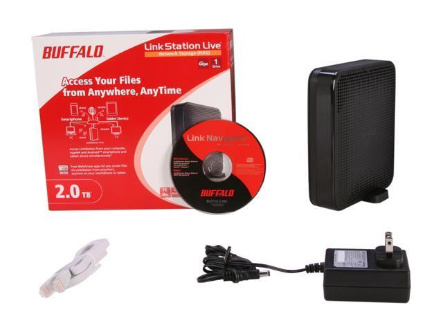 BUFFALO LS-X2 0TL 2TB LinkStation Live Network Storage - Newegg com