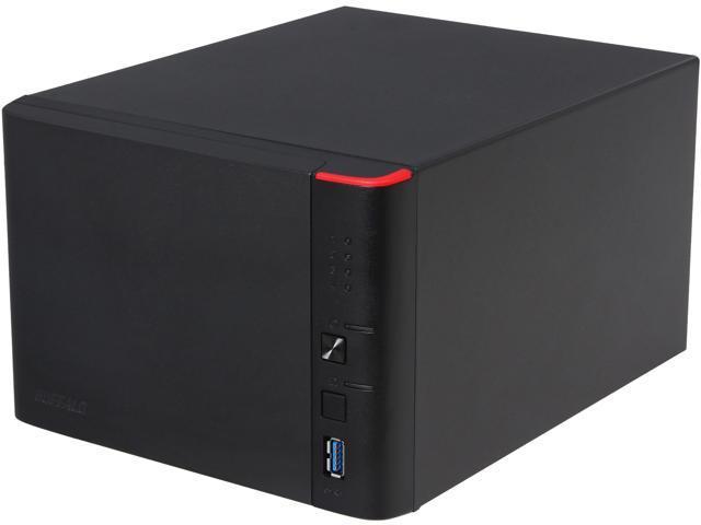 BUFFALO LinkStation 441e (LS441DE) Diskless System Diskless Enclosure High Performance RAID NAS Personal Cloud