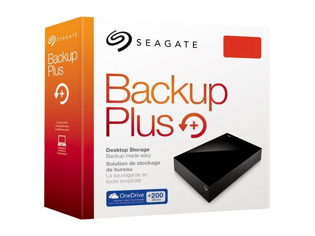 Seagate Backup Plus 3TB Desktop External Hard Drive with 200GB of Cloud  Storage & Mobile Device Backup USB 3 0 - STDT3000100 (Black) - Newegg com