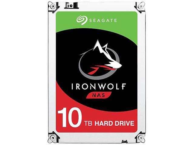 Seagate IronWolf 10TB NAS Hard Drive 7200 RPM 256MB Cache SATA 6.0Gb/s 3.5