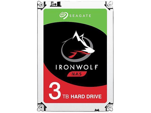 Seagate IronWolf 3TB NAS Hard Drive 5900 RPM 64MB Cache SATA 6 0Gb/s 3 5