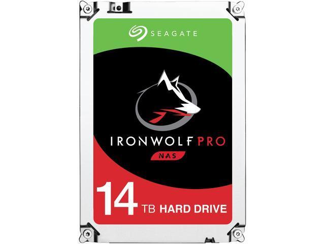 "Seagate IronWolf Pro 14TB NAS Hard Drive 7200 RPM 256MB Cache CMR SATA 6.0Gb/s 3.5"" Internal HDD ST14000NE0008"