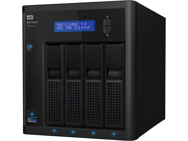 Wd 40tb My Cloud Pro Series Pr4100 Network Attached Storage Nas Wdbnfa0400kbk Nesn Newegg Com