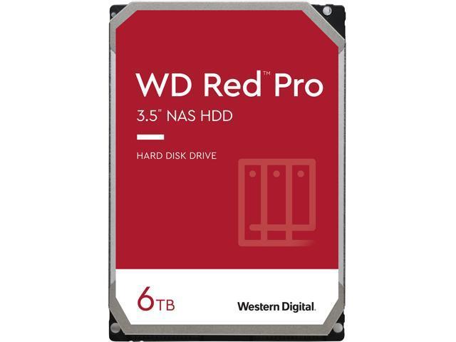"""WD Red Pro WD6003FFBX 6TB 7200 RPM 256MB Cache SATA 6.0Gb/s 3.5"""" Internal Hard Drive Bare Drive"""
