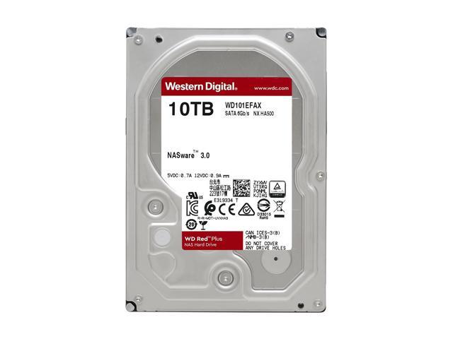 Wd Red Plus 10tb Nas Hard Disk Drive 5400 Rpm Class Sata 6gb S Cmr 256mb Cache 3 5 Inch Wd101efax Newegg Com