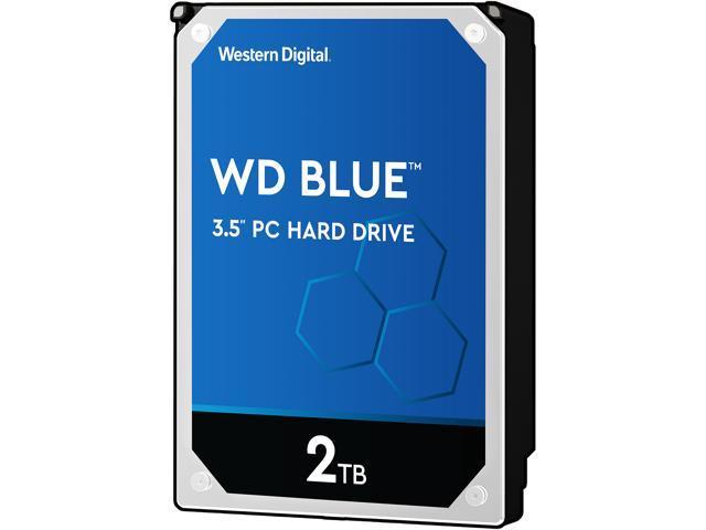 WD Blue 2TB Desktop Hard Disk Drive - 5400 RPM SATA 6Gb/s 64MB Cache 3 5  Inch - WD20EZRZ - Newegg com