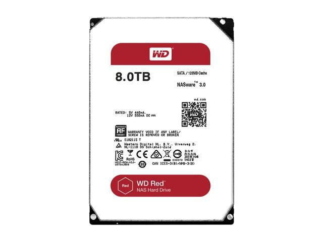WD Red 8TB NAS Hard Disk Drive - 5400 RPM Class SATA 6Gb/s 128MB Cache 3 5  Inch - WD80EFZX - Newegg com