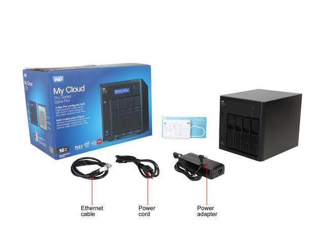 WD 16TB My Cloud PR4100 Pro Series Media Server with Transcoding, NAS -  Network Attached Storage Model WDBNFA0160KBK-NESN - Newegg com