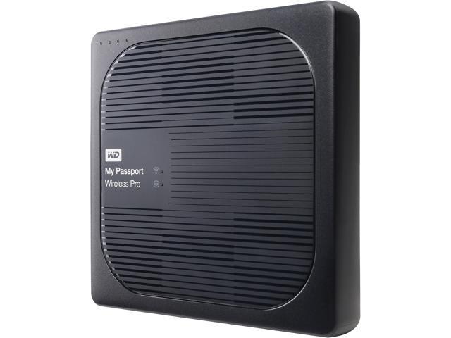 2dc272dbb107 WD 3TB My Passport Wireless Pro Portable External Hard Drive - Wi-Fi AC,  SD, USB 3.0 - WDBSMT0030BBK-NESN