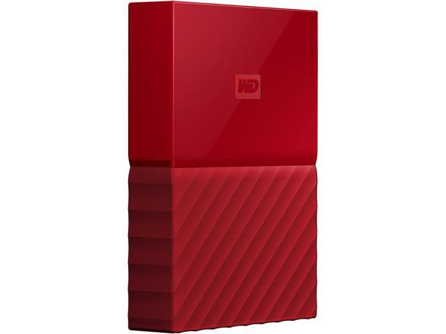 35ff7ec6f209 WD 4TB My Passport Portable Hard Drive USB 3.0 Model WDBYFT0040BRD-WESN Red