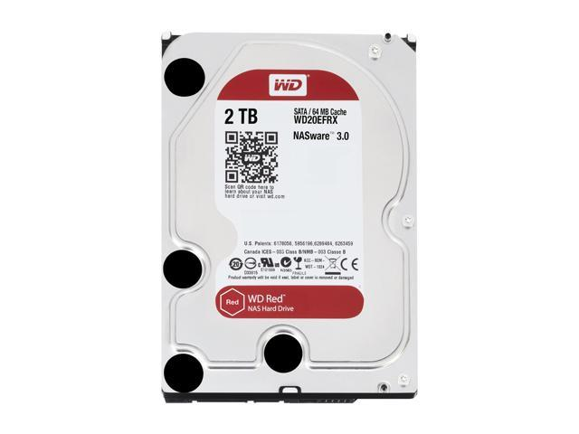 WD Red 2TB NAS Hard Disk Drive - 5400 RPM Class SATA 6Gb/s 64MB Cache 3 5  Inch - WD20EFRX - Newegg com