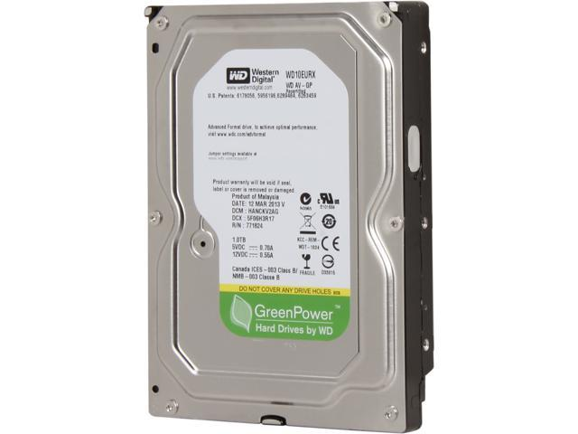 Refurbished: Western Digital AV-GP WD10EURX 1TB IntelliPower 64MB Cache  SATA 6 0Gb/s 3 5