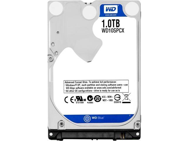 """WD Blue WD10SPCX 1TB 5400 RPM 16MB Cache SATA 6.0Gb/s 2.5"""" Internal"""