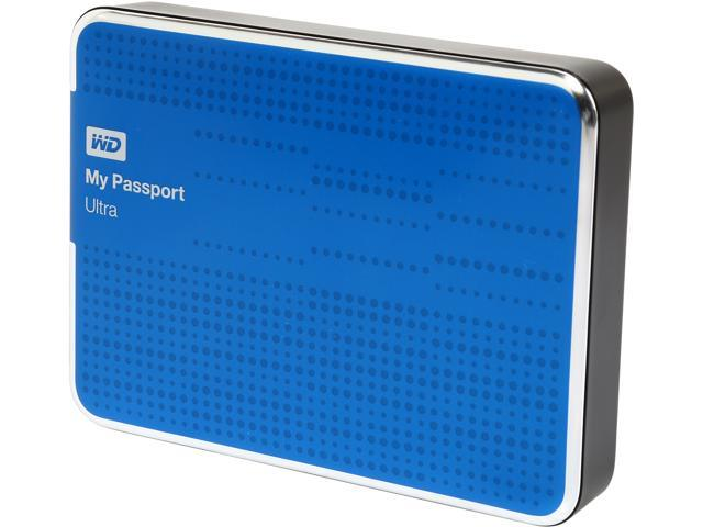 WD 2TB My Passport Ultra Portable Hard Drive USB 3 0 Model  WDBMWV0020BBL-NESN Blue - Newegg com